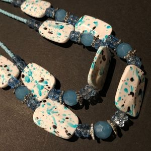 Speckled Beaded Necklace